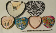 """Brighton Deco Lace Necklace Earrings And Bracelet Set Retired In Orig. Tin """"boxes"""""""