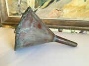 Antique French Copper Handmade Funnel 19th Century
