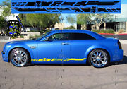 Set Of Racing Side Stripes Decal Sticker Graphic For Chrysler 300 300s