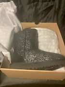 Uggs Womens Classic Short Foil Glam Color Black Size 6 W/1112092