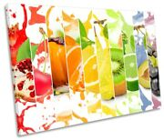 Fruit Collage Splash Kitchen Picture Single Canvas Wall Art Print Multi-coloured