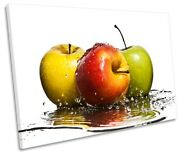 Modern Apples Kitchen Splash Picture Single Canvas Wall Art Print Multi-coloured