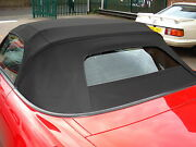 Honda S2000 - Black Mohair Hood With Upgraded Glass Window Soft-top 1999-2001