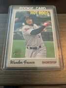 Wander Franco 2019 Topps Heritage Minor Leagues Card 1 Hot Rods Mlb Free Ship