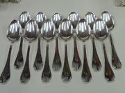 Christofle/alfenide Pompadour 12 Spoons Table T 8 1/8in - Very Bel Condition