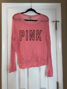 Victorias Secret Pink Thin Sweater Size Small
