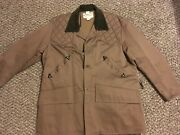 Vintage Brown Ted Williams Hunting Jacket With Corduroy Collar Sold By Sears