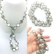 Pools Of Light Natural 12.5 Mm Clear Quartz Rock Crystal 28 Silver Necklace