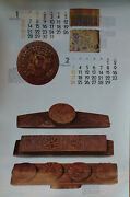 High-quality Art Photos Of Korean Antiques From Large Vintage 1980 Calendar