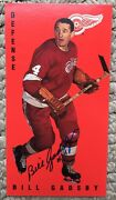 Bill Gadsby Detroit Red Wings Autographed Parkhust Tall Boys
