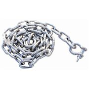Marpac Ch030020 Stainless Steel Anchor Chain W/ Shackles 1/4x4and039long Boat Marine