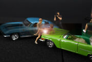 3d Print 1/64 2pcs Sexy Girls And Cool Man Figure Fit 164 Car Street Hand Painted