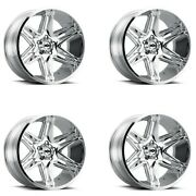 Set 4 22 Vision 363 Razor 22x10 Chrome 5x5 Lifted For Jeep Truck Wheels -19mm