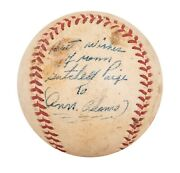 Satchel Paige Single Signed Autographed Vintage 1950and039s Baseball With Beckett Coa