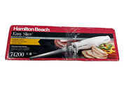 Hamilton Beach Easy Slice Electric Knife 74200 Stainless Steel Blades Open Box