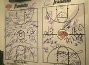2019 And 2020 New York Knicks Team Signed Clipboard