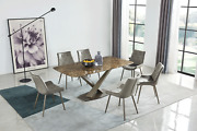 Esf Extravaganza 311 Marble Dining Table With 137 Chairs Set. Total Of 7 Pieces