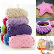 Diy Crochet Cloth Carpets Yarn Craft Cotton Colored Creative Flat Hand Knitted