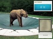 Ultra-loc Iii Solid Tan Cover For 18 X 38 Pool With Mesh Drain Panels