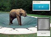 Ultra-loc Iii Solid Gray Cover For 18 X 38 Pool With Mesh Drain Panels