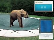 Ultra-loc Iii Solid Blue Cover For 18 X 36 Pool With Mesh Drain Panels