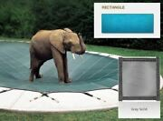 Solid Pvc Blue Cover For 20and039 X 44and039 Pool With Automatic Cover Pump