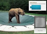 Solid Gray Cover For 16 X 34 Pool With Auto Cover Pump 4 X 8 Center