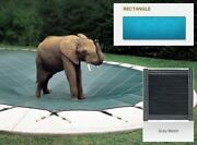 Inground Mesh Gray Safety Cover For 20and039 X 40and039 Rectangular Pool
