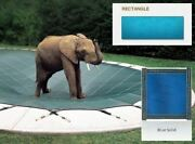 Solid Pvc Blue Cover For 12' X 24' Pool With Automatic Cover Pump