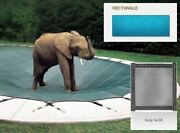 Solid Pvc Blue Cover For 18and039 X 36and039 Pool With Automatic Cover Pump