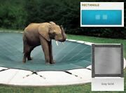 Ultra-loc Iii Solid Gray Cover For 20 X 42 Pool With Mesh Drain Panels