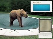 Solid Pvc Blue Cover For 16and039 X 34and039 Pool With Automatic Cover Pump