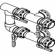 Waterco 4-valve 3 Manifold For Vertical Filter 3 Flange