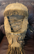Native American Indian Full Size Handmade Leather Papoose Approx. 35