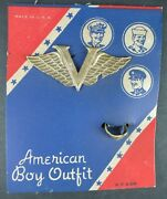 Vintage American Boy Outfit V Badge And Ring On Card New Old Store Stock