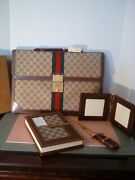 Vintage Briefcase And Desk Set, Rare, All New In Boxes. Art.11644422 Italy