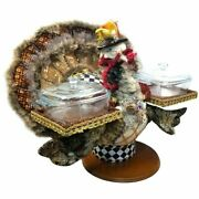 Mark Roberts 2020 Collection Server Turkey With Glass Bowl 18.5''