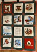 The Night Before Christmas Quilt. 100 Cotton, Handmade Quilt/ Wall Hanging Lap