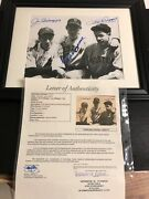 Autographed Ted Williams Dom And Joe Dimaggio 8x10 Photo Framed Jsa Signed