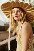 Nwt Lack Of Color Women Scalloped Ribbon With Chin Strap Straw Dolce Hat S