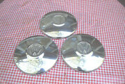 3 Oe Sixties/seventies Era Vw Dog Dish Hubcaps Not Rotted Minor Flaws