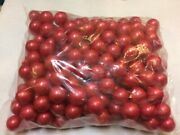 200 Opaque Solid Red 16mm 5/8 Inch Glass Marbles Replacement Chinese Checkers And