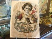 Antique French/spanish Lithograph St.john The Baptist As A Child