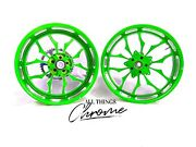 Stock Size Bright Green Contrast Cut Recluse Wheels 2009-2014 Yamaha Yzf R1