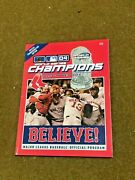 2004 Boston Red Sox World Series Believe Program And Gold Collectors Series Lot