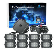 Mictuning C2 8 Pods Curved Rgbw Led Rock Light Offroad Underglow Bluetooth Music