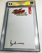 Cgc Ss 9.8 Street Fighter Unlimited 1 Variant Signed By Jean-claude Van Damme