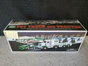 2013 Hess Toy Semi Truck And Tractor - Loader With Box