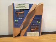 New Corbels Pine Wood Shelf Support. Supports Up To 7 Wide Shelf -2 Count