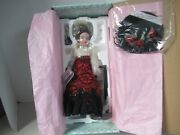 Coca Cola Victorian Girl Madame Alexander Doll 12 Porcelain W/stand New In Box